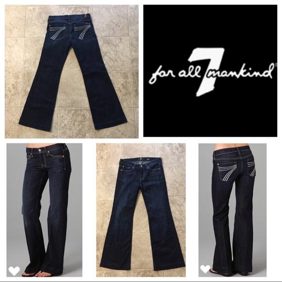 7 For All Mankind Denim - 7 FAM Dojo Flip Flop Flare Jeans